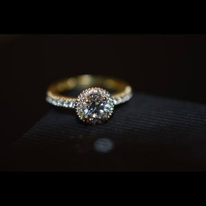 AAA CZ; 10K Solid Yellow Gold Ring